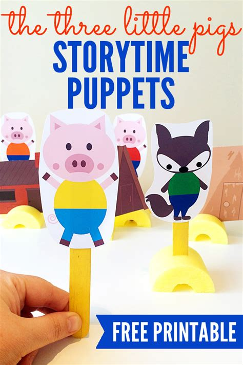 puppet stories for preschoolers the three pigs printable storytelling puppets 563