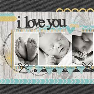 Love Scrapbook Page Layout Baby