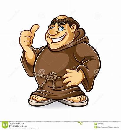 Monk Friar Fat Clipart Medieval Smiling Vector