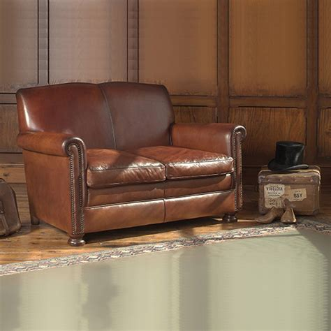 Small Leather Loveseat by Charles Small Leather Sofa