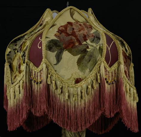 plain jane l shades victorian lamp shade croscill portrait silk bead fabric