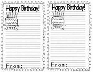 birthday cake writing paper