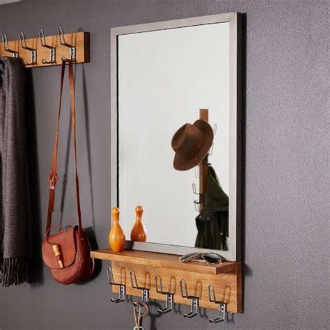 wall mount entryway organizer mirror white pottery barn