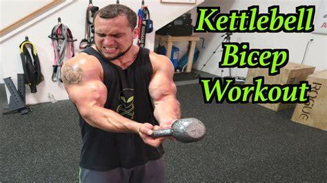 kettlebell workout bicep intense minute