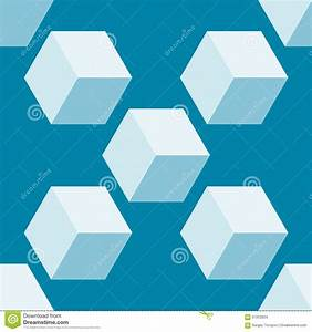 Seamless Pattern Vector 3d Cube, Abstract Illustration ...