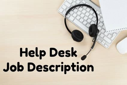 desk job description