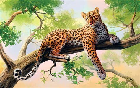 Animals Leopard Art Desktop Wallpaper Nr 62698 By 1080hd
