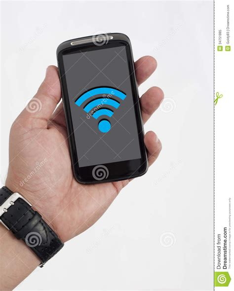 wifi on phone wifi on smart phone stock image image of