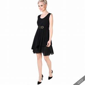 femme robe courte en mousseline jupe volantee ceinture With robes habillees femme