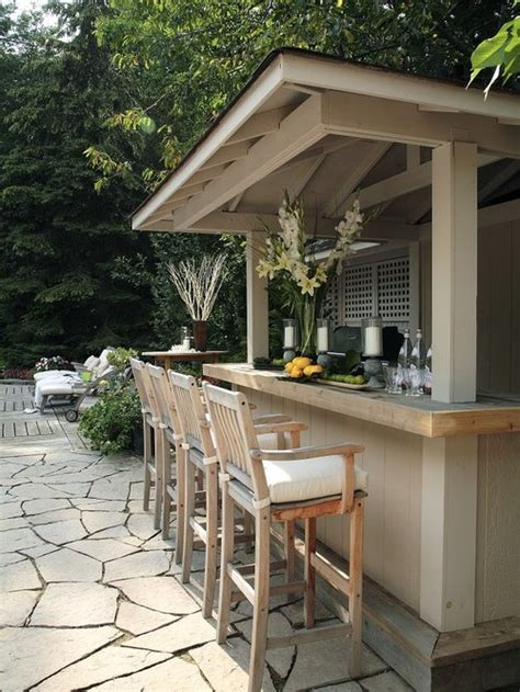 Outdoor Bar Designs by Wood Outdoor Bar Home Design Ideas Pictures Remodel And