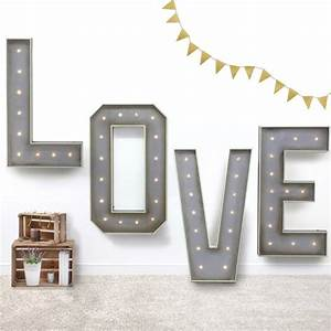 giant light up letters by letteroom notonthehighstreetcom With giant light up letters