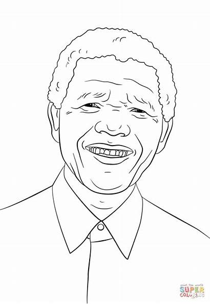 Mandela Nelson Coloring Pages Drawing Sheets Printable