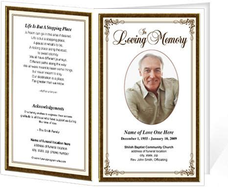 creative funeral program template  colors funeral