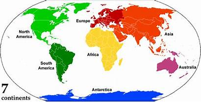 Continent Continents Map Continental Earth Asia Many