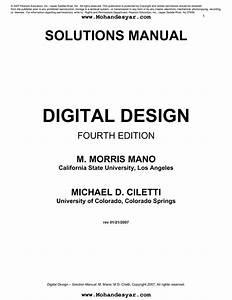 Digital Design Morris Mano 4th Edition Pdf Free Download