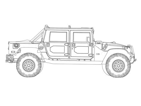 Free Coloring Pages Of Hummer H1