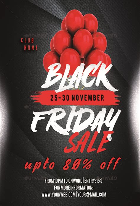 black friday sale flyer  luckyinspiron graphicriver