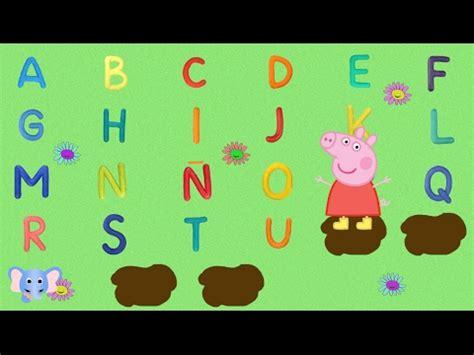 aprende el abecedario  peppa pig learn alphabet youtube