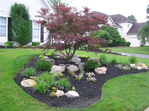 Backyard Landscaping Ideas With Rocks by 54 Beautiful Front Yard Rock Garden Ideas Backyard