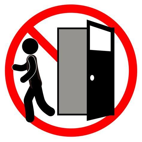 開放厳禁|警告|注意|やめてください|イラスト|無料
