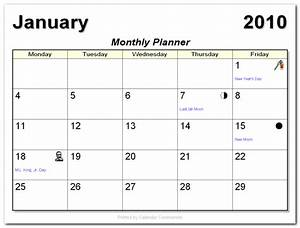 Monthly calendars for Free 5 day calendar template
