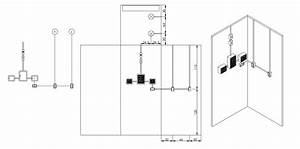 Electric Board Connection On Wall  Download The Dwg File