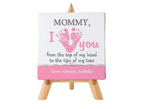 day gifts from baby i love mommy personalized canvas choice of colors