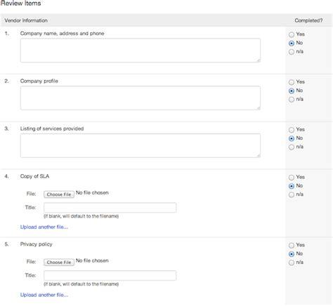 complete vendor due diligence checklists vendorrisk