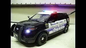 Scale Model Police Lights Custom Veterans Affairs Police Department Ford Interceptor