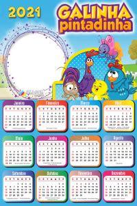 Calendário 2021 PNG Infantil para Foto Montagem Imagem Legal