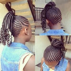 Little Black Girl Braid Ponytail Hairstyles
