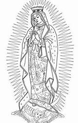 Guadalupe Coloring Lady Pages Virgen Printable Crafts Clipart Virgin Mary Supercoloring Adult Drawing Draw Rosa Para Catholic Church Drawings Category sketch template