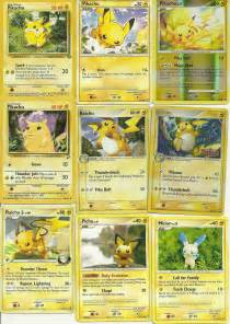 all of my pikachu pokemon cards