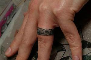 finger ring tattoo by power tattoo company With 3d wedding ring tattoos