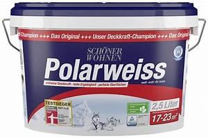 Schöner Wohnen Polarweiss : sch ner wohnen farbe innenfarbe polarweiss 2 5 liter ~ Watch28wear.com Haus und Dekorationen