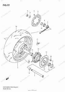 Suzuki Motorcycle 2011 Oem Parts Diagram For Rear Wheel