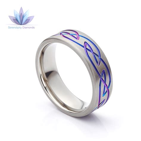purple wedding rings brightly coloured zirconium bands