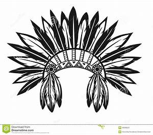 Free coloring pages of indian head dress