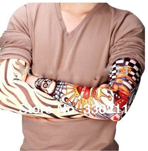 sleeve tato palsu temporary mix motif multi color jakartanotebook