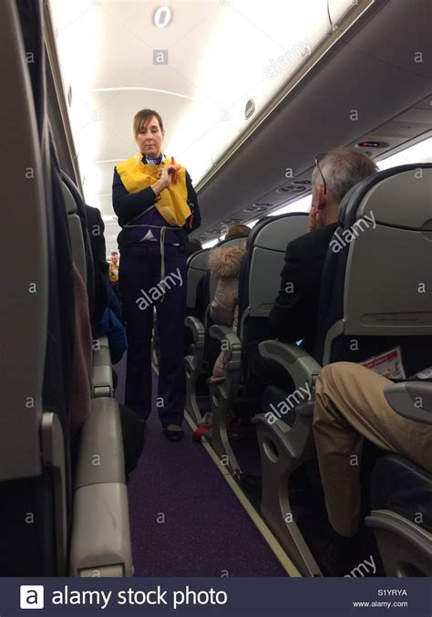 cabin crew member jacket plane stock photos jacket plane stock