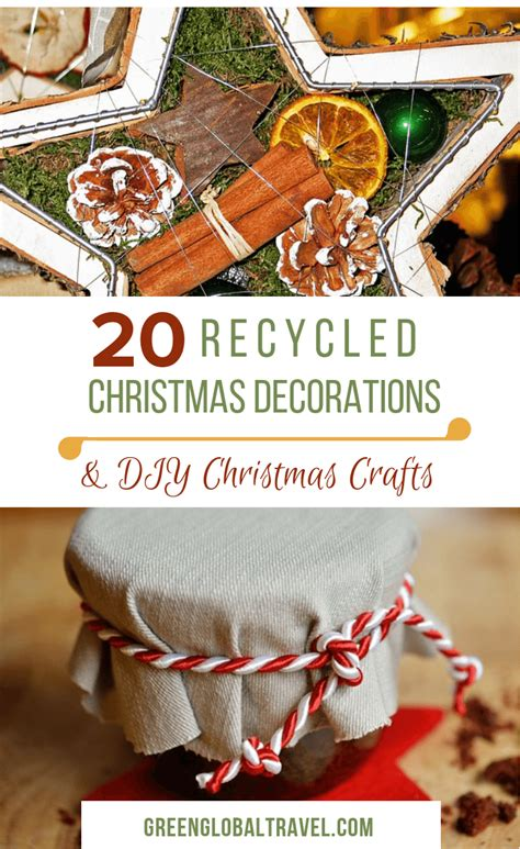 recycled christmas decorations diy christmas crafts