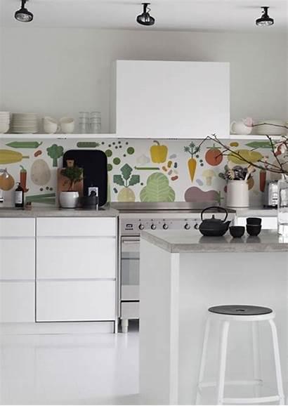 Kitchen Splashback Kitchenwalls Veggies Backsplash Fun Prepasted
