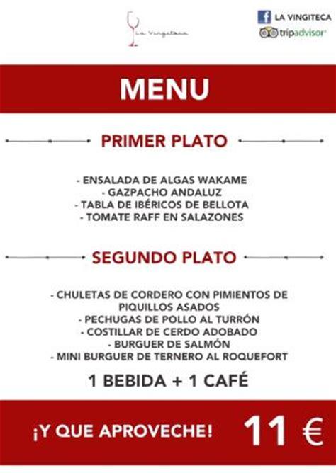 la cuisine en espagnol menu español photo de la vingiteca alicante tripadvisor