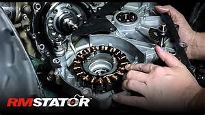 How To Install An Arctic Cat 400  U0026 Suzuki Eiger Atvs Heavy Duty Improved Stator Flywheel Rm11502