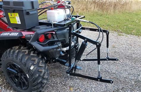 hydraulic atv  point hitch full stand  hydraulic system wild hare manufacturing