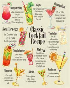 classic cocktail recipe metal humour wall sign retro