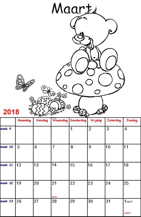 Kleurplaat Juni by Kleurplaten Voor Kinderen Diddl Kalender 2018