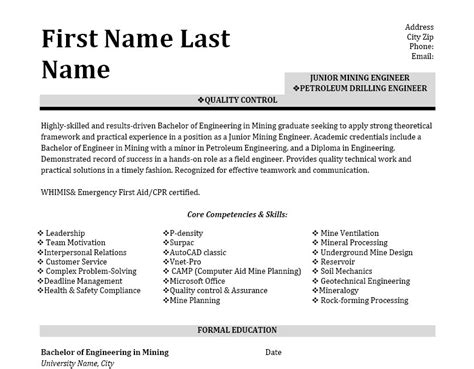 petroleum drilling engineer resume template premium