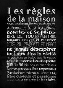 Affiche Les Regles De La Maison : les r gles de la maison citation citation pinterest ~ Melissatoandfro.com Idées de Décoration