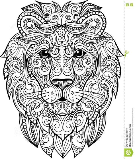 Hand Drawn Abstract Lion Vector Illustration Cartoon